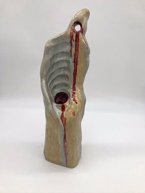 Seeping Form - oil and clay- Rachel L Clarke
